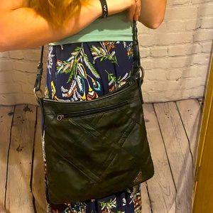 Beautiful Roxy black leather bag